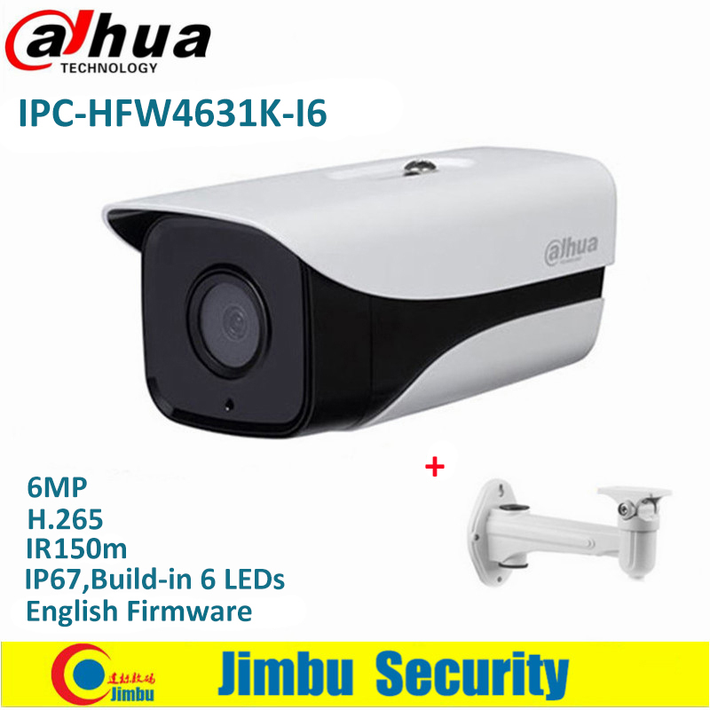 Dahua IP Camera POE 4MP IPC-HFW4631K-I6 6Mp IVS Bullet Outdoor H.265 150m IR Built-in 6LEDs IP67 POE Security CCTV Camera цена