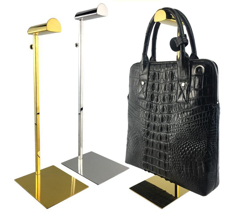 Clothing Store Stainless Steel Display Rack Men Women Bags Brace Hook Handbag Hanger Hat Hanger Stand Wig Hook Display Stand image
