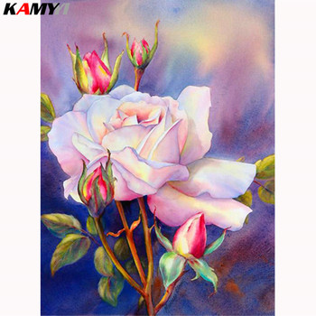 Embroidery 5D DIY Flower Full Diamond Painting Needlework Round Rhinestones Mosaic Cross Stitch Home Decoration Art Crafts LK1 image