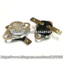 Bimetal temperature control switch KSD301 15A 250V 55 degrees 60 65 Thermostat  Normally Closed