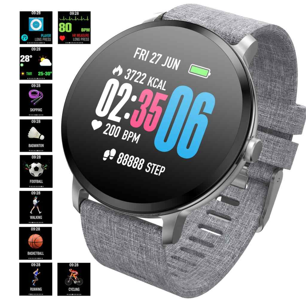 OGEDA Sports Smart watch V11 waterproof IP67 Tempered glass Activity Fitness tracker Heart rate monitor Top Luxury Smart watch