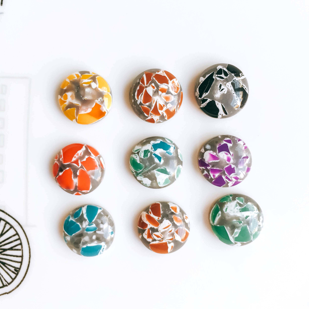 12mm Resin Glass Cabochon Stone Fit Earring Pendant Base Jewelry Components Diy Material 60pcs