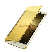 Золото зеркало чехол для huawei P8 Lite ALE L21 L23 P9 Lite VNS-L21 L31 флип-кейс чехол телефона huawei P8 Lite 2017 PRA-LX1 LA1 TL10