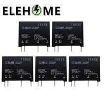 1PCS/2PCS Relay Module G3MB-202P G3MB 202P DC-AC PCB SSR In 5V DC Out 240V AC 2A Solid State Relay Module XF30 pcb 4 pin ssr solid state relay in 3 32v dc out 2a 380v ac hhg1 1 032f 38 2z