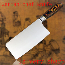 2017 LD new top grade kitchen knives 8 inch stainless steel chef knife kitchen knife cleaver meat sharp knife Free shipping