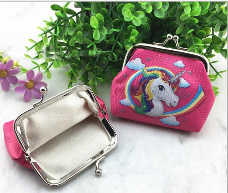 12Pcs Smile Haunter Unicorn Coin Purse Kids Wallet Girls Kids Money Bag Children Party Gift