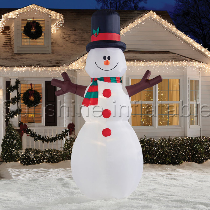 3m airblown inflatable christmas decorations inflatable snowman with led yard holiday decoration in ball ornaments from home garden on aliexpresscom - Christmas Airblown Inflatables