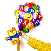 Медведь парашют моделирование алюминиевые воздушные шары детский фестиваль украшение для праздников воздушные шары Оптовые игрушки для детей