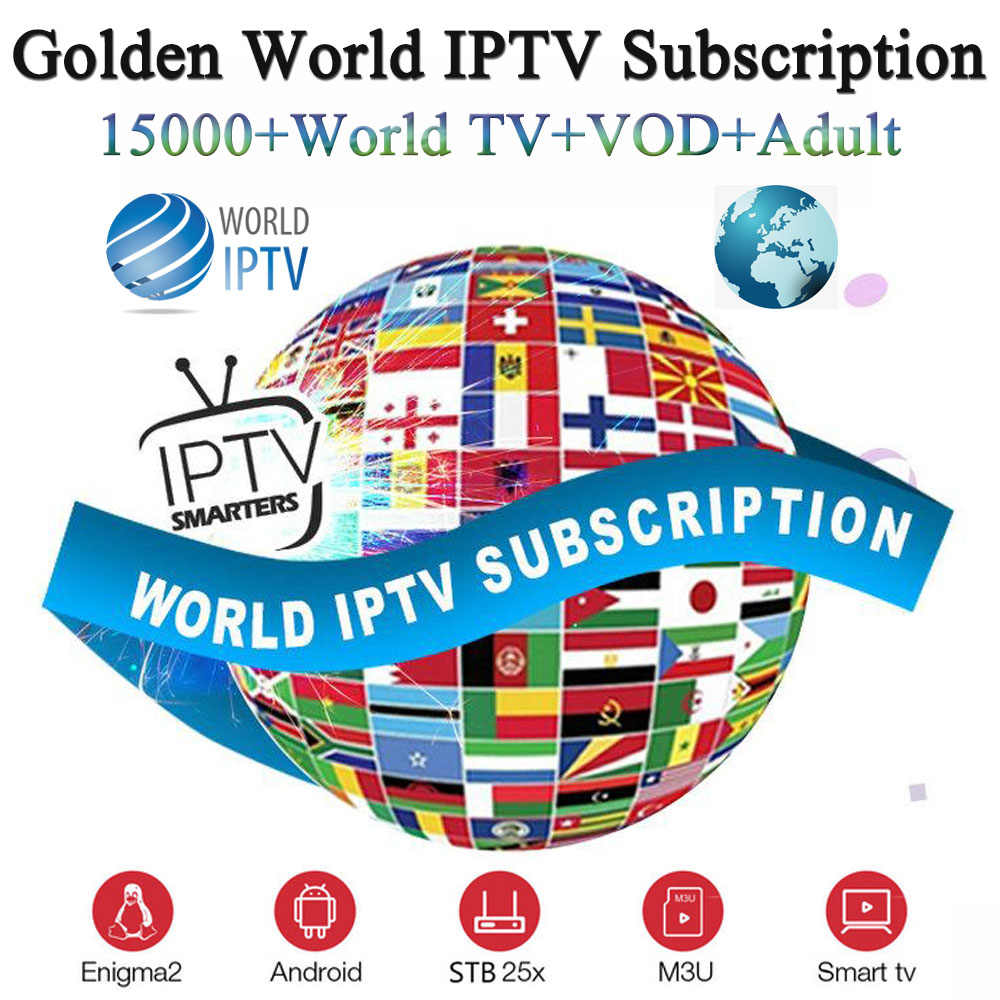 Golden World iptv subscription 15000+Live&vod with French Spanish English Sweden Canada Poland Belgium Dutch Arabic Israel iptv