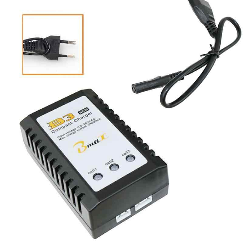 B3 10W 7.4V 11.1V Lithium Battery Charger 2 S-3 S Sel untuk RC Drone Quadcopter US/EU Plug 55*33*90 Mm