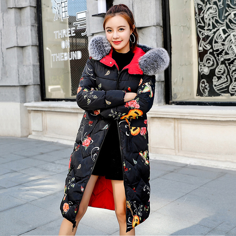 Fashion Women Double Two Sides 2019 Winter Jacket Thick Artificial Fur Collar Hooded Long Parka Warm Slim Femme Coat And Jackets(China)