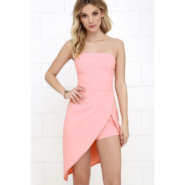 d6d16f8a8e FK1040 Women Formal Jumpsuits Chest Wrapped Strapless Off the shoulder  Playsuit Rompers Short Pants Barboteuse Overalls