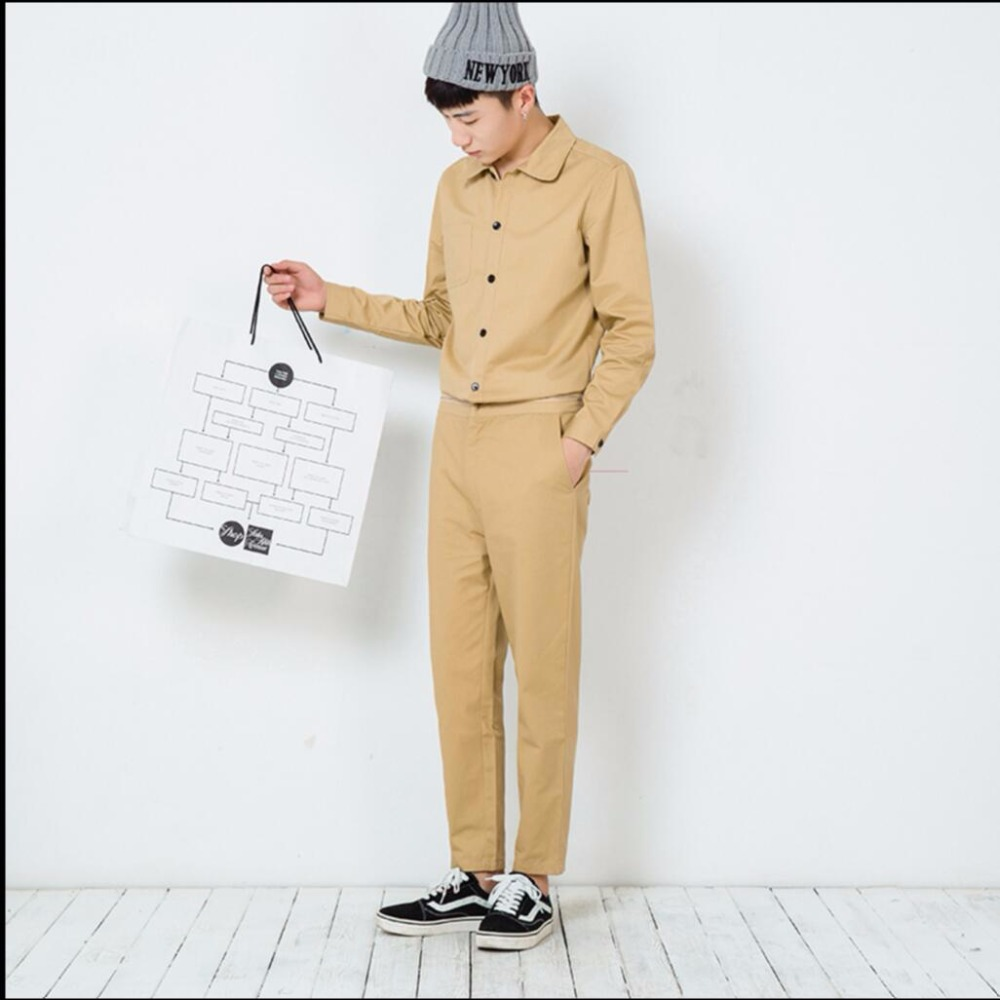 Hot 2021 Spring New Arrival Men Jumpsuit Set Casual Pants Shirt The Disassemblability Bodysuit Clothing Hairstylist Overalls