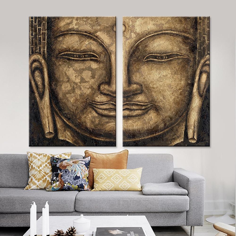 Leinwand Malerei Moderne Dekorative Bilder Buddha Wandkunst ...