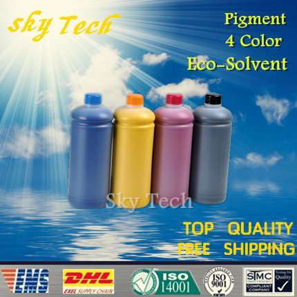 500ML*4 Pigment Eco Solvent Ink suit for Roland and mutoh printer , Quality Ink For PVC ,banners , canvas , car sticker