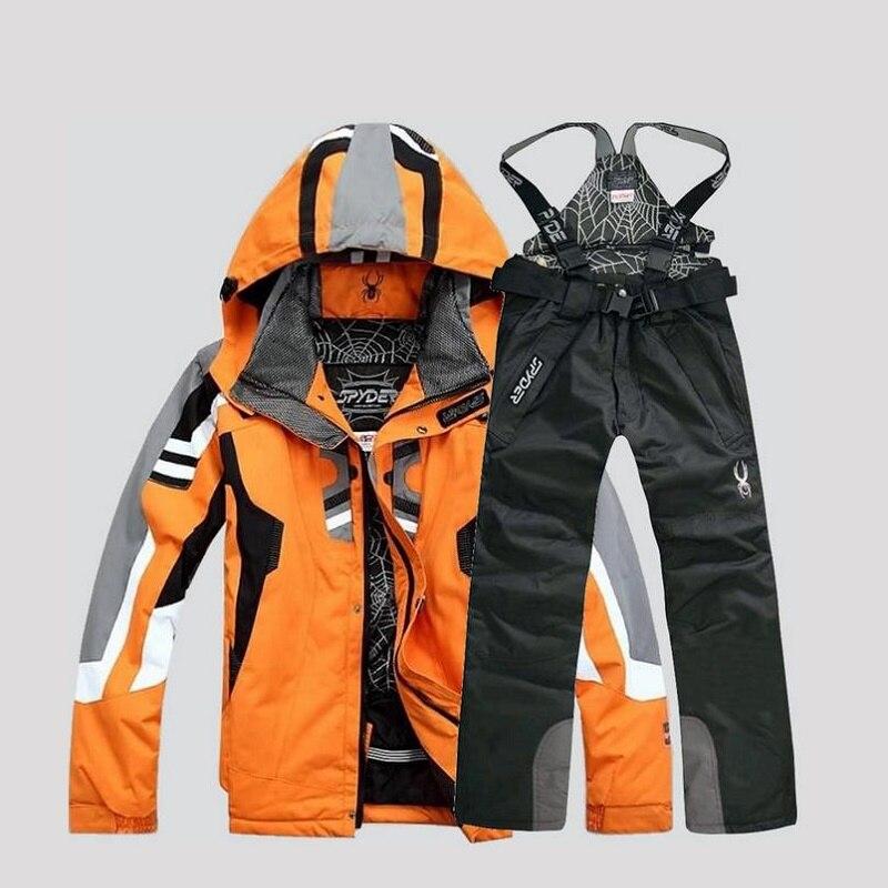 Высокое качество Зимний лыжный костюм для мужчин лыжная куртка брюки непромокаемые сноуборд наборы для ухода за кожей Открытый Лыжный спор