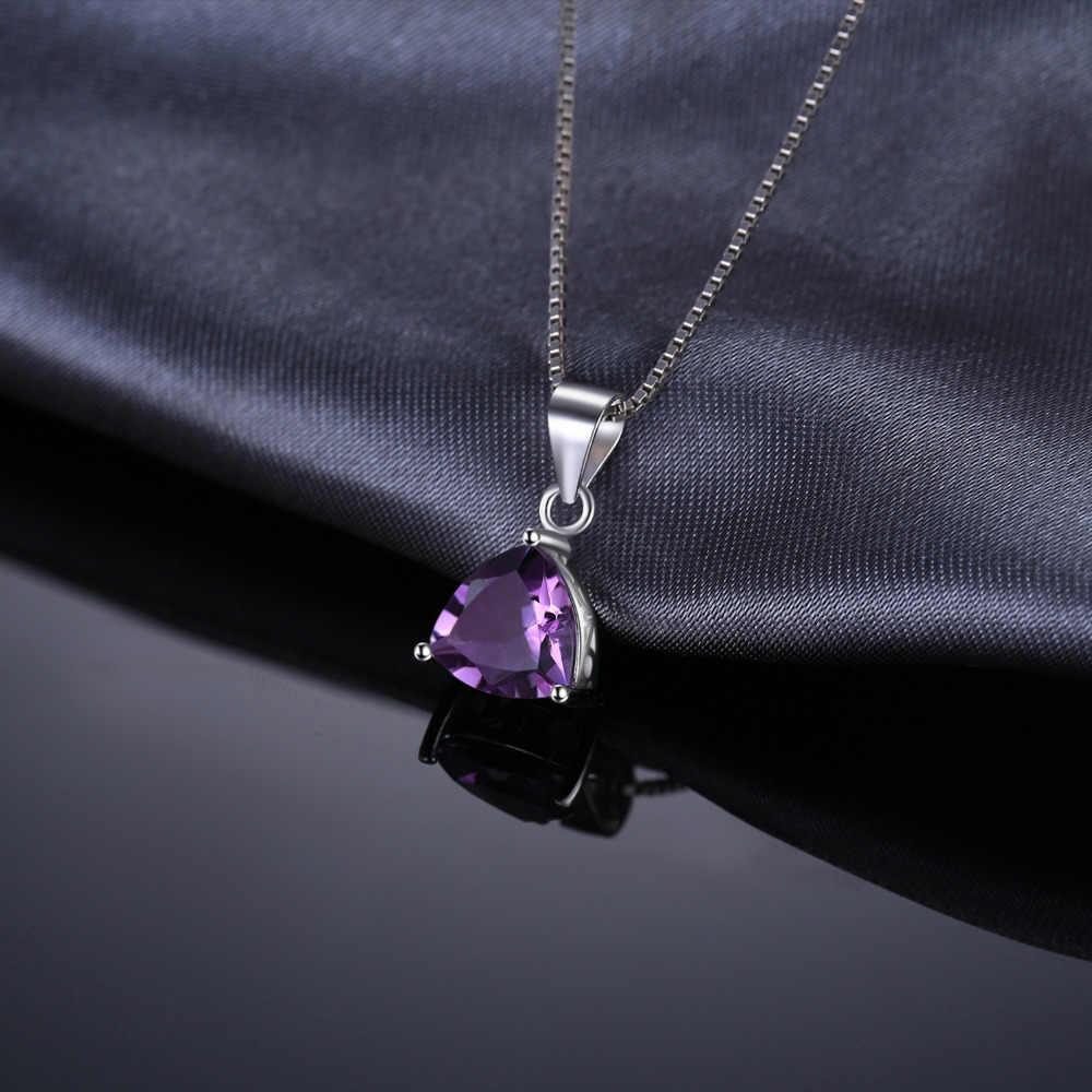 Collier pendentif améthyste naturelle 925 collier en argent Sterling avec pierres précieuses collier déclaration femmes en argen