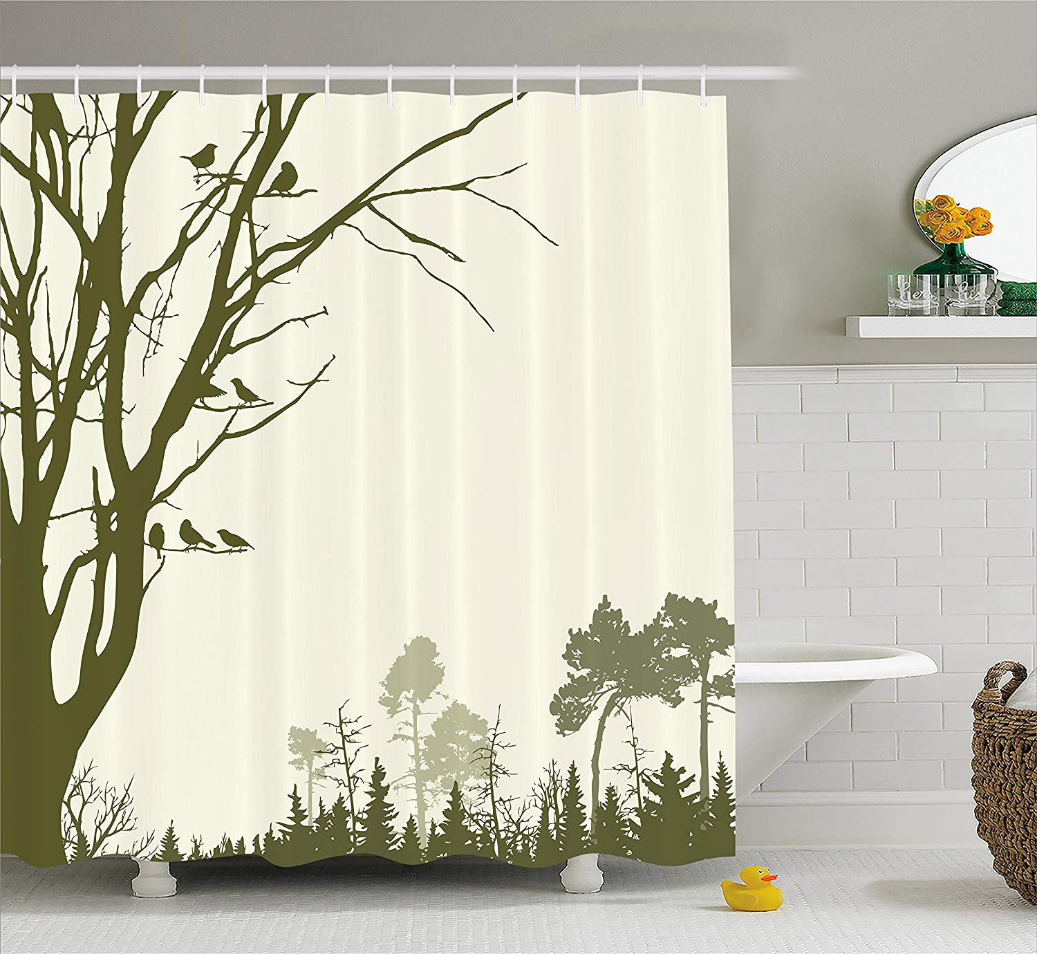 Forest Shower Curtain Nature Theme The Panorama Of A Forest