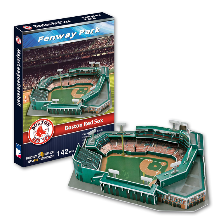 Candice guo 3D puzzle DIY toy paper building assemble hand work game model Baseball fenway park Boston red sox birthday gift 1pc