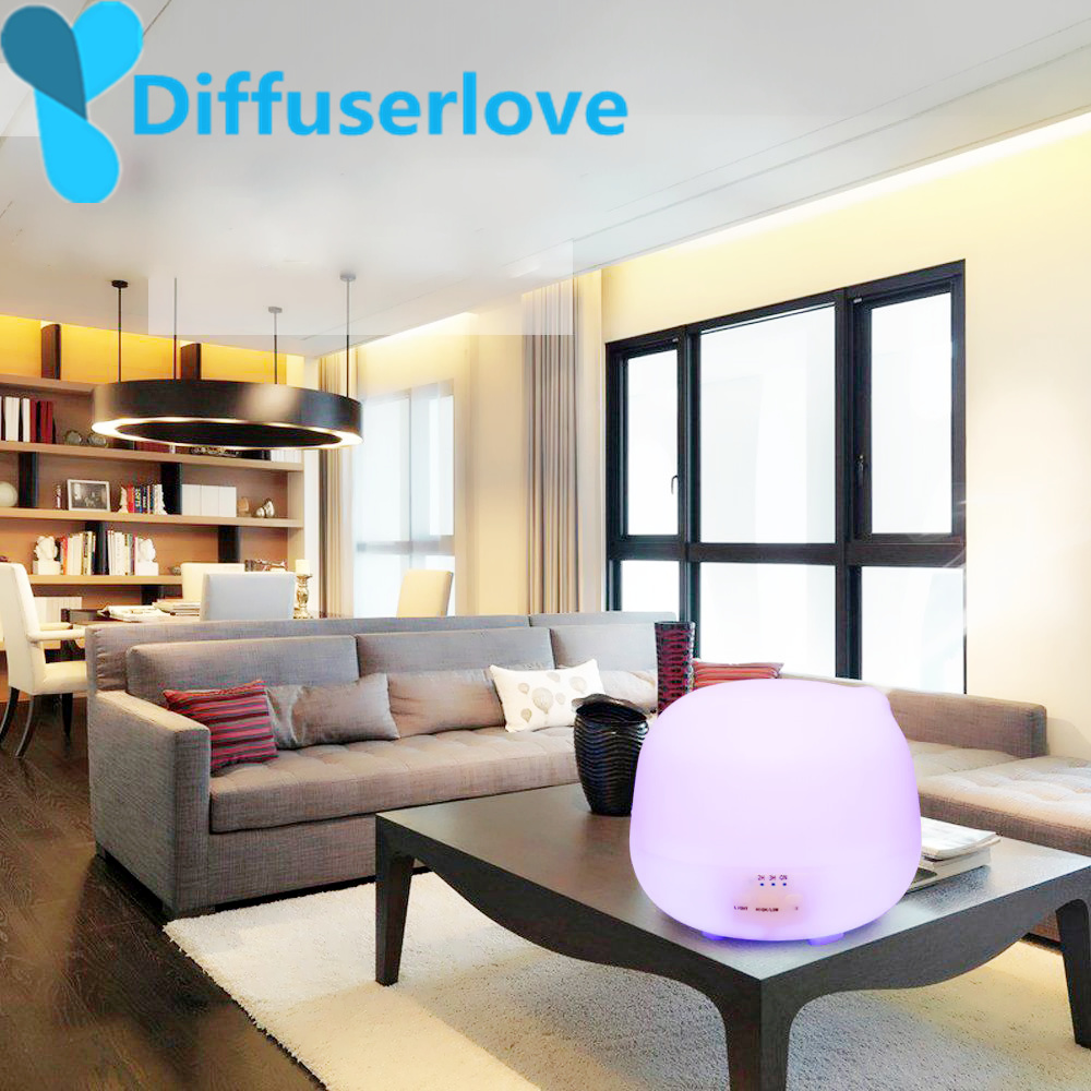 где купить Diffuserlove 500ML Lamp Air Ultrasonic Humidifier for Home Essential Oil Diffuser Atomizer Air Freshener with LED Light дешево