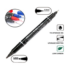 12 Pcs Dual-Tip 3 Colors Tattoo And Permanent Marking Pen For Tattoo Permanent Makeup Supply