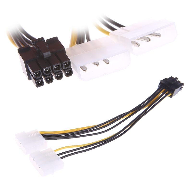 2x 4-Pin LP4 To 8-Pin PCI Express Video Card ATX PSU Power Adapter Cable Z07 Drop ship phil collins singles 4 lp