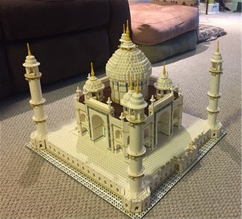 City Street The Tai Mahal Model Building Kits Assembling Brick Comaptible Lepins Educational Lovely Gifts Figures Toys loz mini diamond block world famous architecture financial center swfc shangha china city nanoblock model brick educational toys