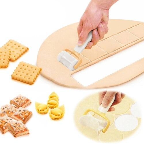 3Pcs/Set Rolling Angel Biscuit Ravioli Cutter | Rolling crimped circle cutter | Delicia Rolling Square Cutter