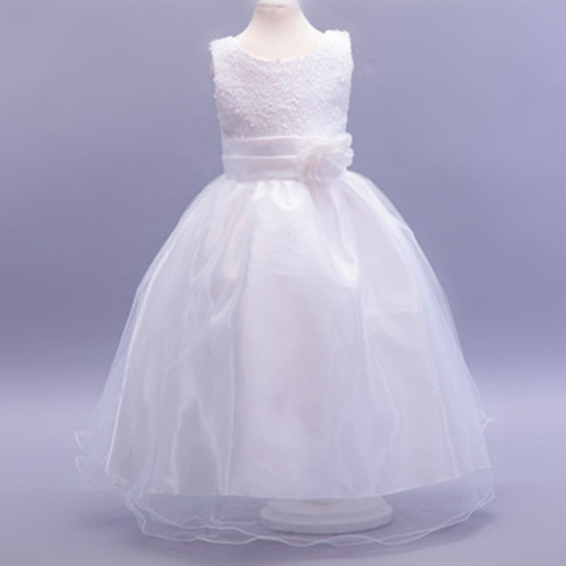 Sequined   Flower     Girl     Dresses   Formal Princess Party Gown for Children Prom Gown Wedding Tea-Length