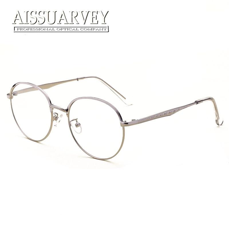 e088d7f7ca Classic Vintage Round Metal Eyeglasses Exquiste Brand Designer Optical  Glasses Frame Clear Lenses Women Men Eyewear Prescription