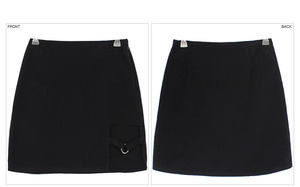 Image 4 - סקסי גבירותיי סימטרי חצאית גבוהה מותן גותי פאנק ריקוד Clubwear קצר מיני Bodycon חצאיות שחור 200 873