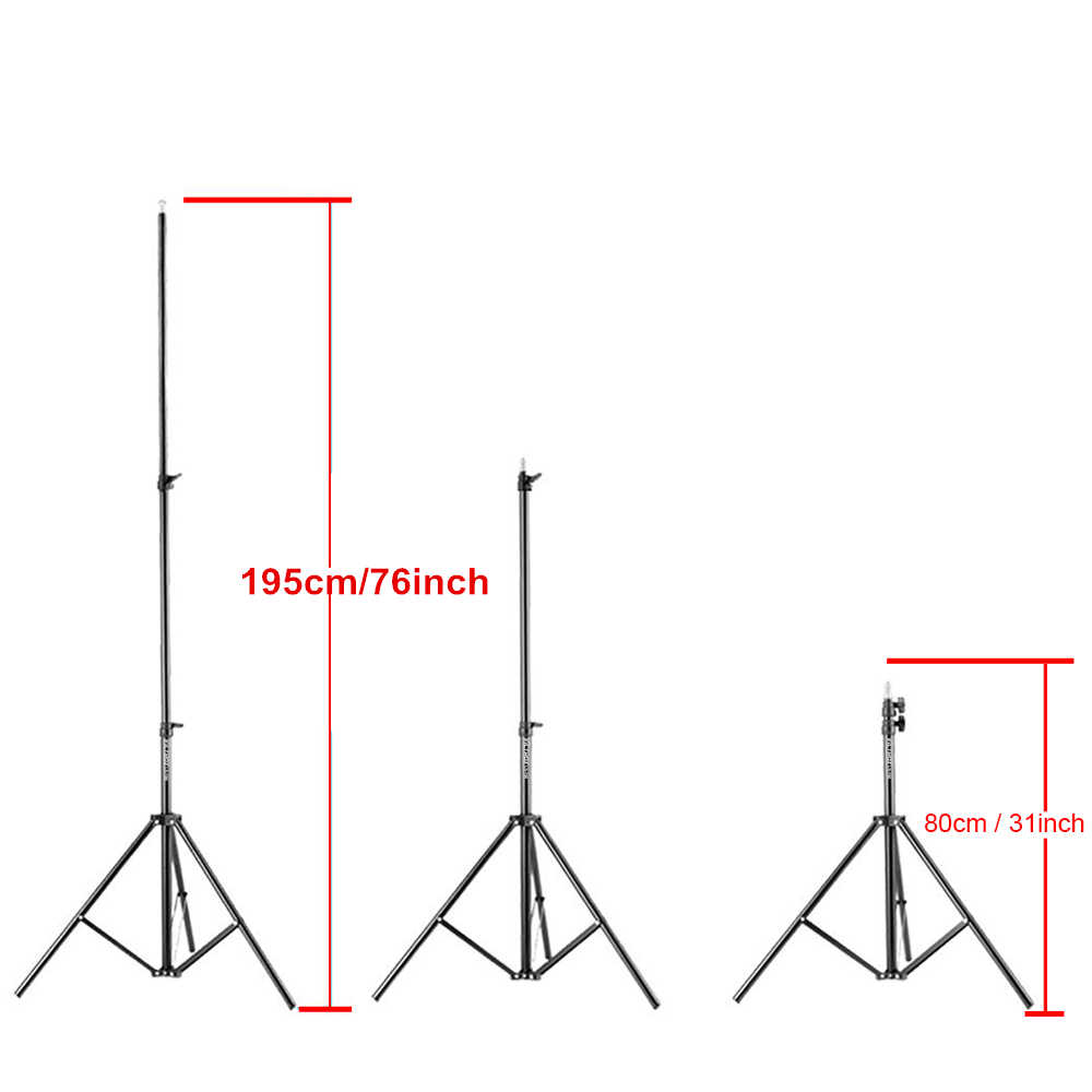 Viltrox 1,9 м (74in) раза осветительная стойка-Трипод с 1/4 головки винта Softbox для фотостудии зонтики для отражения освещения при видео съёмке