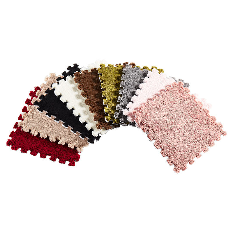 30cm Suede Stitching Mat Living Room Bedroom Full Shop Cute Carpet Floor Mat Children Climbing Mat Window Window Carpet Home