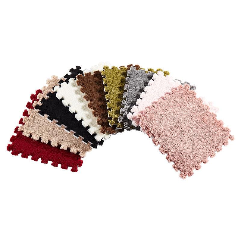 30cm Suede Stitching Mat Living Room Bedroom Full Shop Cute Carpet Floor Mat Children Climbing Mat Window Window Carpet Home