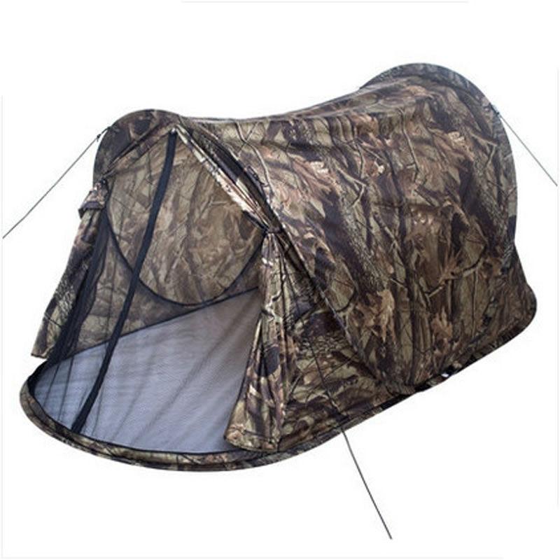 Jeter Pop Up tente extérieure Portable automatique tente Camouflage randonnée Camping pêche tente ultralégère étanche 1-2 personne