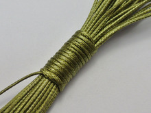 100 Yards Olive Green Korean Waxed Cord String Thread 1mm for Bracelet Necklace