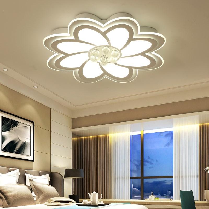 Moderne Led Kroonluchters Plafond Lustres Voor Hal woonkamer Bed room 110 V 240 V Bloemen Plafond Gemonteerd Wit led lichtpunt-in Kroonluchters van Licht & verlichting op title=