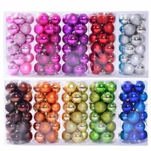 PGY 24PCS Christmas Balls Tree Decorations Xmas Ornaments 3cm/4cm/6cm/8cm Polystyrene Ball USA New Year Gifts Home A