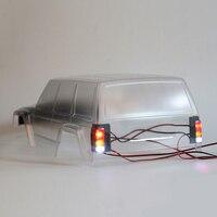1 ペア 90046 Led ライトカバートリコロールヘッドライト/テールライトカバーシェル 3D 印刷ランプハウジング用 SCX10 90047 チェロキー
