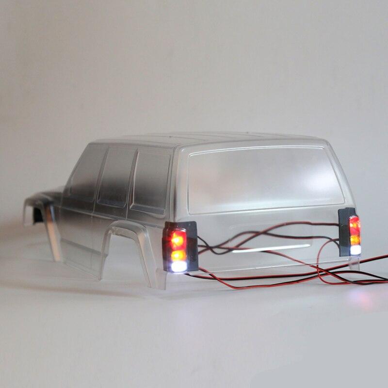 1 par 90046 LED cubierta Tricolor faro/luz trasera cubierta 3D impresión carcasa de lámpara para Axial SCX10 90047 cherokee