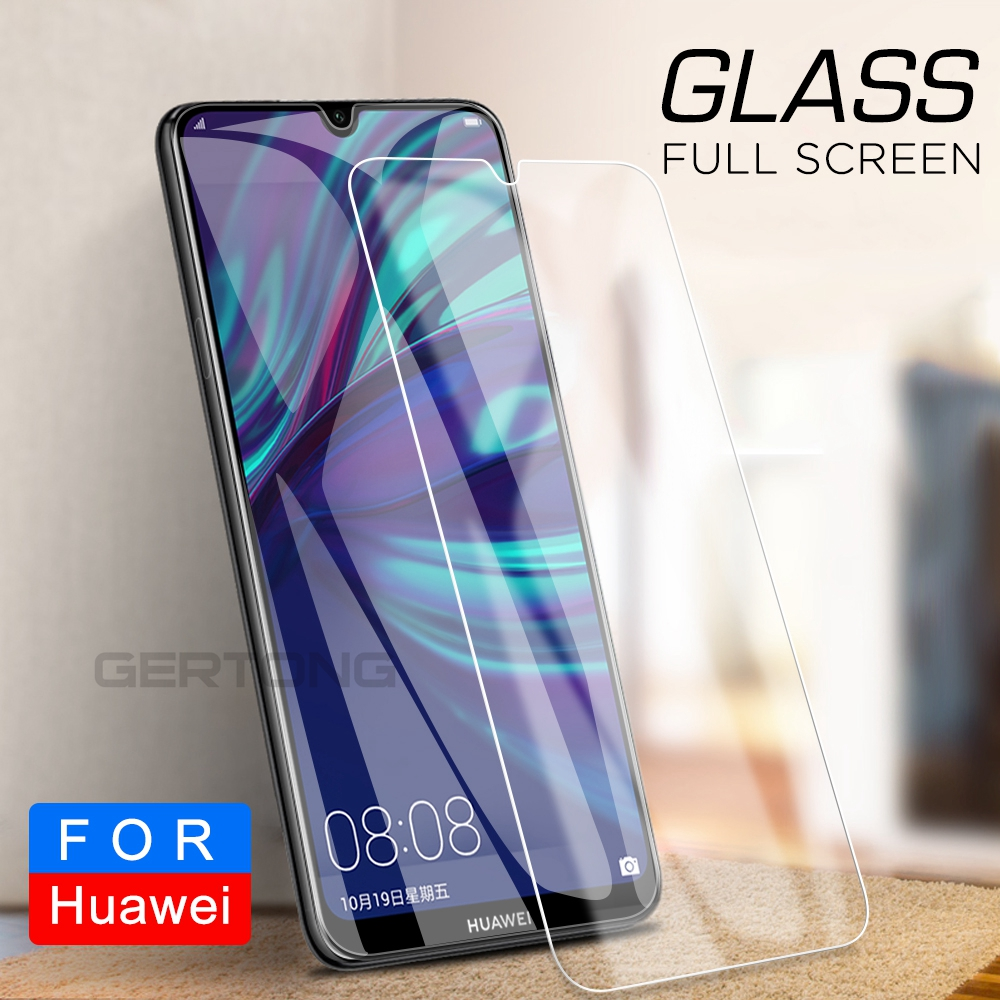 GerTong Tempered Glass For Huawei Y7 Y6 Pro 2019 Screen Protector For Huawei Y7 Prime 2019 Y7Prime 2019 Y 7 6 2019 Glass Film
