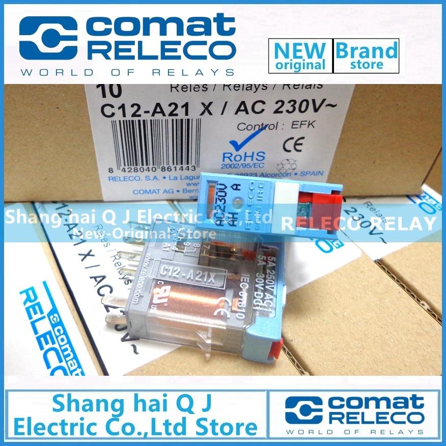 RELECO relais C12-A21X-AC230V-230VAC tout neuf et originalRELECO relais C12-A21X-AC230V-230VAC tout neuf et original