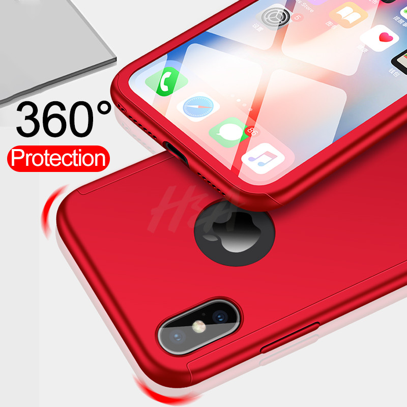 Image 5 - H&A Luxury 360 Full Cover Case For iPhone X XS MAX XR Protective Case For iPhone XR XS MAX X Plastics Phone Case Tempered Glass-in Fitted Cases from Cellphones & Telecommunications