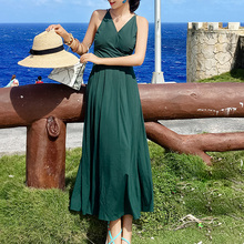 Summer Sexy Strap Maxi Dress Women Red Backless Beach Holiday Green Elegant Sundress Black Party Boho Casual White Long Dresses