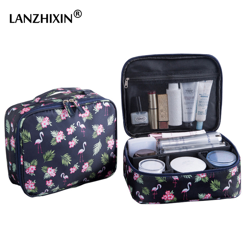 waterproof Women Makeup bag Cosmetic bag Case Travel Make Up Toiletry bag Organizer Storage pouch set box professional HZB-015 new women fashion pu leather cosmetic bag high quality makeup box ladies toiletry bag lovely handbag pouch suitcase storage bag