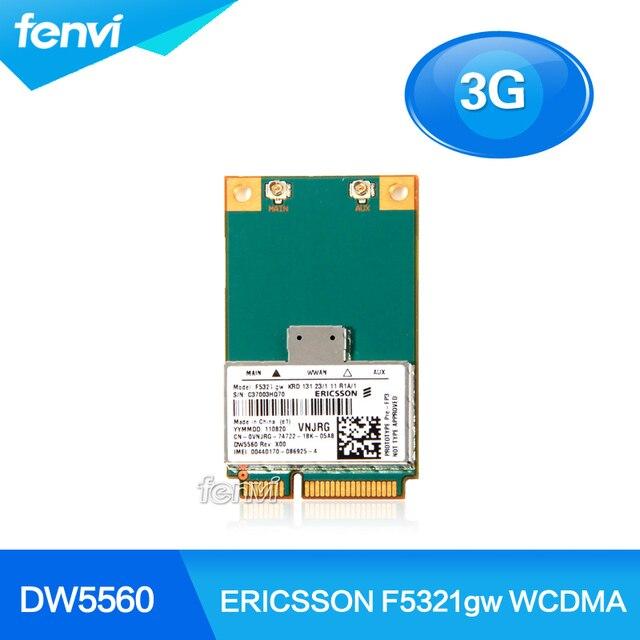Ericsson F5321gw DW5560 sem fio 3 G WWAN MINI PCI-E Card GSM GPRS EDGE UMTS WCDMA HSPA + 21 MB módulo GPS para Notebook Dell Modem
