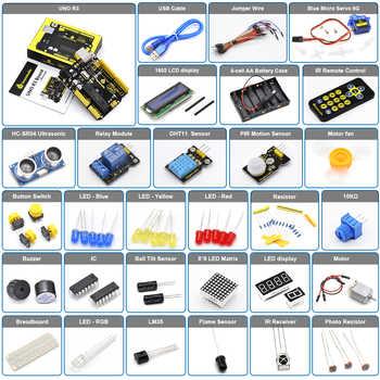 2019 NEW! Updated Version Keyestudio Basic Starter Kit V2.0 (UNOR3 Board ) W/Gift Box for Arduino Kit+PDF(online)