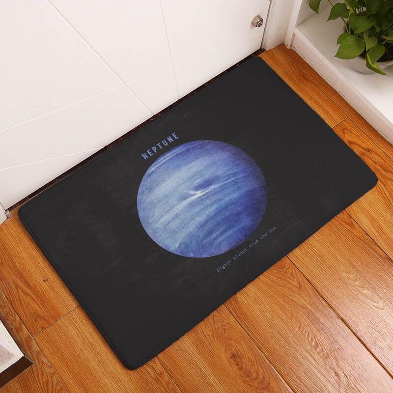 Planet Printing Flannel Carpet blue Earth Pattern Mat For Living Room 40x60cm Door mat Rectangle Tapete