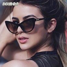 Belmon Fashion Cat Eye Sunglasses Women Brand Designer Sun Glasses For Ladies Oculos cateye Female Clear lens Eyeglasses RS591 ybz fashion cat eye sunglasses women brand designer sun glasses for ladies vintage oculos cateye mirror lens female sty954