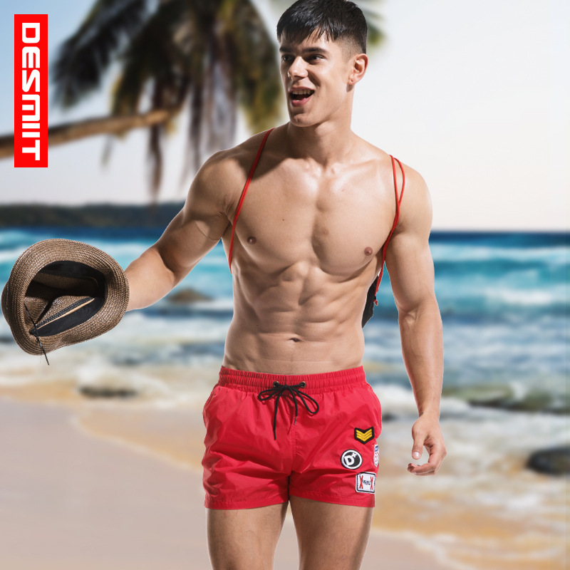 2018 DESMIIT Men sports   Shorts   Summer Beach   shorts   Swimwear Men   Board     shorts   Man Boxer   Short   Bermuda Swimsuit Quick Dry